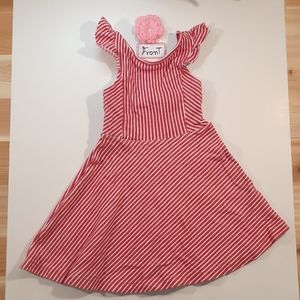 Red w/ white casual Zara dress for girls size: 5